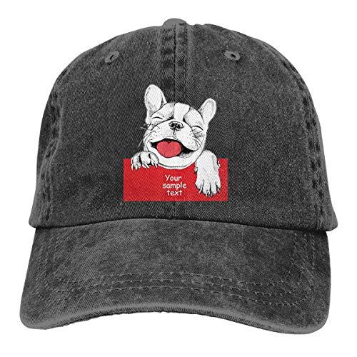 (Wfispiy Karten-Schablonen-Netter Hund 2019 bedeckt Baseballmütze-Sport-Hut)