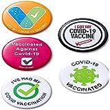 XYHJ - 10 spille rotonde per vaccinazione, per uomo e donna