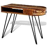 vidaXL Vintage Schreibtisch Holz recycelt Sekretär Büro Computertisch Handarbeit