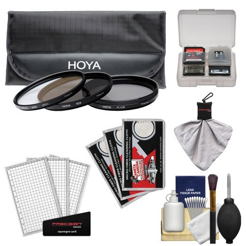 Hoya 77mm 3-Piece Digital Filter Set (HMC UV Ultraviolet Circular Polarizer & ND8 Neutral Density) with Case + Canon Cleaning Kit for Canon EF 100-400mm L IS 17-40mm f/4 24-105mm f/4 L IS 24-70mm f/2.8 L 24mm f/1.4 70-200mm f/2.8 L IS EF-S 10-22mm 17-55mm f/2.8 IS Lens  available at amazon for Rs.13293
