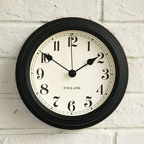 DollylaStore Horloge Murale Simple Horloge Chambre muette Salon Horloge en Fer forgé personnalisée Horloge à Quartz créative, Beige (sans Fil) ( Color : Black(Cordless) ) | Authentique