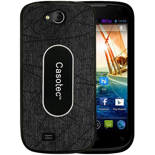 Casotec Metal Back TPU Back Case Cover for Micromax Canvas Elanza A93 - Black  available at amazon for Rs.229