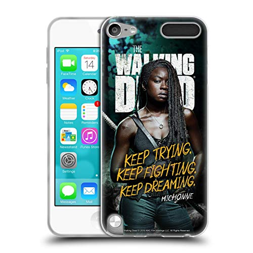 fizielle AMC The Walking Dead Michonne Staffel 9 Zitate Soft Gel Huelle kompatibel mit Apple iPod Touch 5G 5th Gen ()