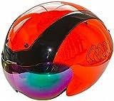 C Originals G14 casque de vélo Aero contre-la-montre pour vélo de route triathlon TT Race Track Casque - 2 x Visières Noir/Orange S/M 54cm-58cm