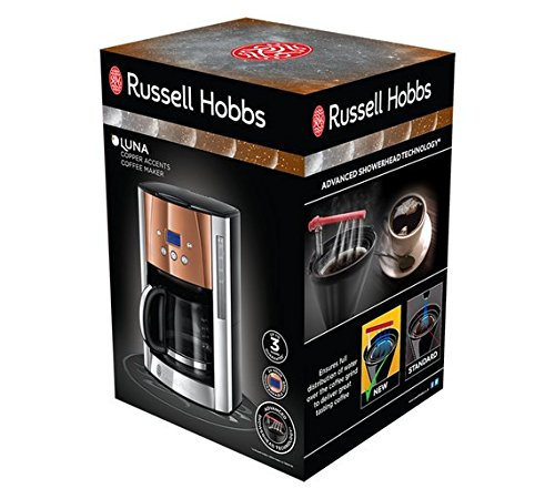 Russell Hobbs Luna Filter Coffee Machine – Copper