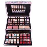 TPulling 45 Farbe Lidschatten Palette Luxus Golden Matte Nude Professionelle Rosa Handgemachte Kit Kosmetiktasche Artist Shrink Make-up Box (B)