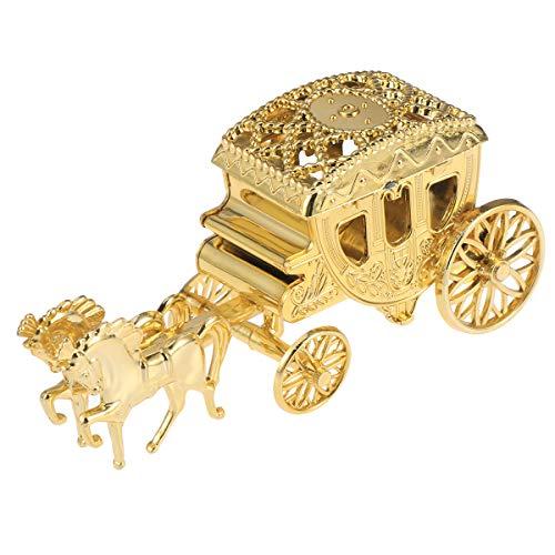 TOYANDONA Geschenkbox Kunststoff Kutsche Form Süßigkeiten Gastgeschenk Box Baby Shower Hochzeit Geburtstag Party Gastgeschenk (Golden)