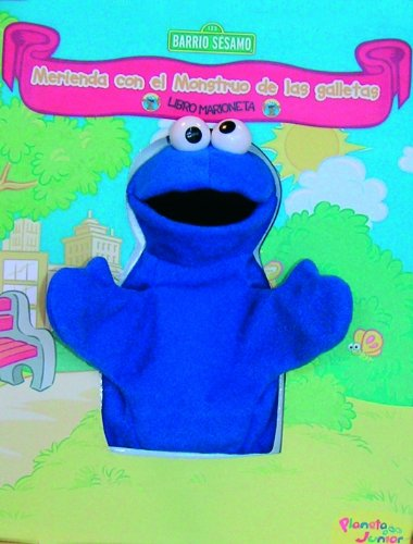 Libro marioneta Monstruo galletas: Merienda Monstruo