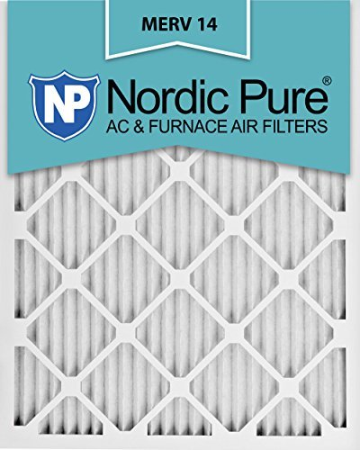 Nordic Pure 16 x 25 x 1 m14-6 Bundfaltenhose AC Ofen Air Filter, Box von 6 (Ac-filter 16x16x1)