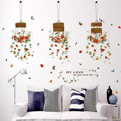 Wandtattoo Frische Und Schöne Blumentopf Korb Wandaufkleber Diy Aufkleber Fenster Glas Wanddekor Dekoration Kinder Kinderzimmer Dekor