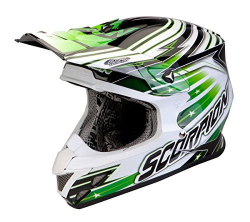 Preisvergleich Produktbild Helm CROSS Motorrad Enduro Scorpion VX 20 STARTROOPER grün Fiberglas 2 innen Größe S...