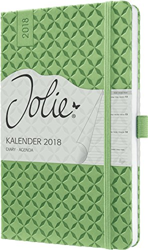 Sigel J8113 Wochenkalender Jolie 2018, ca. A5, grün - viele Modelle (Tabelle Ende Der 16x16)