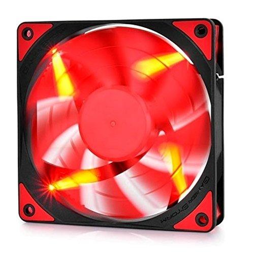 DEEPCOOL TF120 Red 120mm Lüfter Gehäuselüfter 4pin PWM Silent für Computer Wasserkühlung CPU Kühler Rot