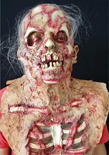 HLLPG Halloween Latex Scary Maske Erwachsene Maskerade COS -