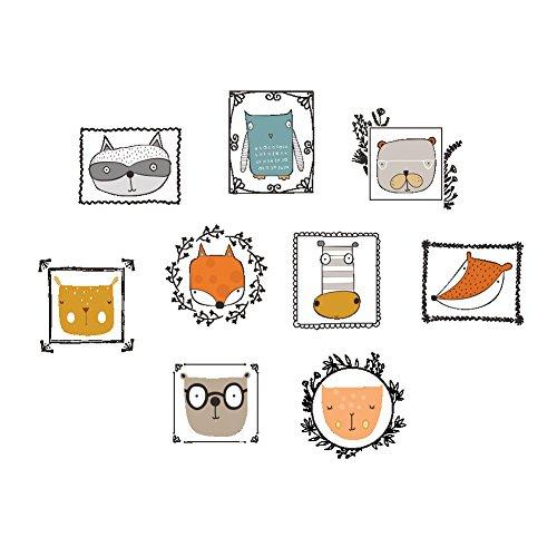 ufengke Pegatinas Decorativas Pared Cabezas Animales Vinilos Adhesivos Decorativos para Dormitorios Salon