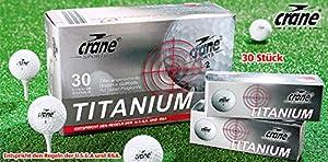 Golfbälle 30 Stück Titanium Distance Golfbälle, 352 Dimple; 2-Piece, Dupont...