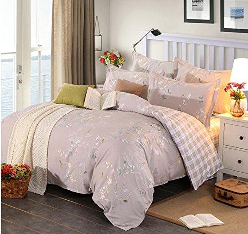 Bettwäsche Schleifen vier Sätze von Bettwäsche, Baumwolle europäischen und amerikanischen Stil Bett-Sets (Rüschen-bett-satz Twin)