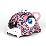 YXINY Helme TH-005 Kinder Helm PC + EPS 3D Cartoon Tiere Kind Allround Helme Junge Mädchen Fahrrad Fahrradhelm LED Nachtlicht 49-56cm 222G Rosa, Lila Allround-Helme ( Farbe : Pink )