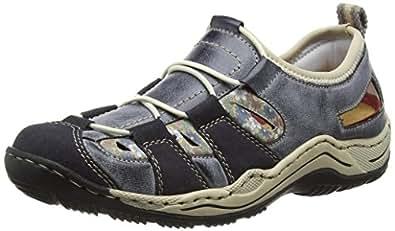 Rieker L0561 Women Low-Top, Damen Sneakers, Blau (navy/atlantic/kornblume/beige/14), 39 EU
