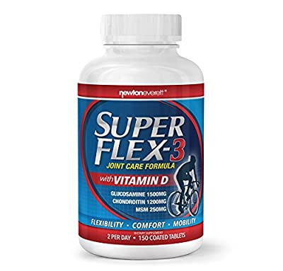 Dr Alex's #TrustedSource SUPERFLEX-4 - Glucosamine | Chondroitin | MSM | Vitamnin D3 by Newton-Everett Biotech
