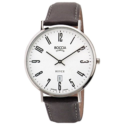 Boccia Unisex Analogue Watch with White Dial Analogue Display - 3589-08