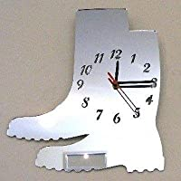 Wellington Boots Mirrored Clock - 35 x 30 cm