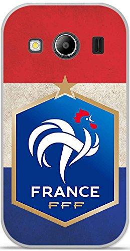 Coque TPU gel souple Samsung Galaxy Ace 4 G357 design Foot France fond drapeau