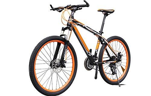Yoli® New Bicycle 36V Lithium Battery Electric Snow Bike SHIMAN0 Mountain Bike ,5 colors,three speeds (24speed, orange)