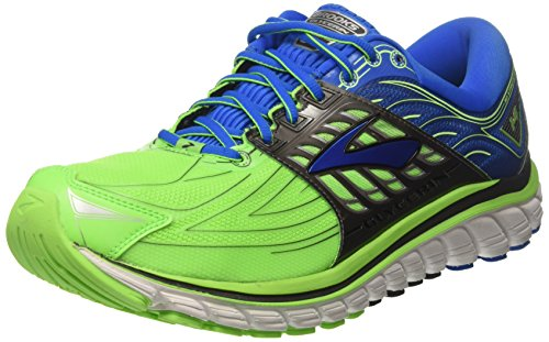 Brooks Glycerin 14, Zapatos para Correr para Hombre, Verde (Green Gecko/Electric Blue Lemonade/Anthracite), 47.5 EU