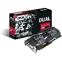 Asus Dual-RX580-O4G Radeon Gaming Grafikkarte (AMD RX580, PCIe 3.0, 4GB DDR5 Speicher, VR-Fähig, DVI, HDMI, DisplayPort)