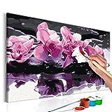 murando - Malen nach Zahlen Blumen Orchidee 60x40cm Malset DIY n-A-0208-d-a
