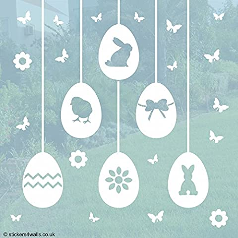 Easter Egg Window Stickers - Easter home or shop window decoration