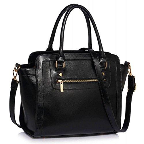 xardi London Monochrome Multi Donna in Pelle Sintetica Borse A Spalla Grab Bags Black Style 2
