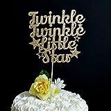 Die besten Boy First Birthday Geschenke - qidushop Twinkle Twinkle Little Star Tortenaufsatz Glitzer Ba Bewertungen