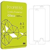 iPhone 7 Schutzfolie, POOPHUNS 2 Stück Panzerglas iPhone 7, iPhone 7 Displayschutzfolie, 3D Touch, 9H Härtegrad, 99% Transparenz Full HD, Einfaches Anbringen