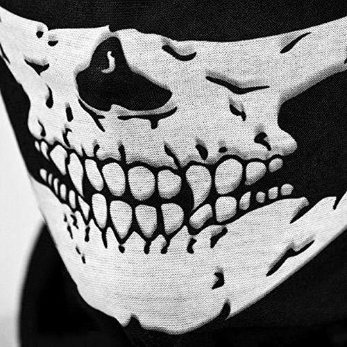 Leoboone Schädel Balaclava Traditionelle Gesichts-Kopf-Maske Gator Schwarz NWT Tactical-Kopf-Abdeckung Motorrad Radfahren Gesicht Schutzhüllen