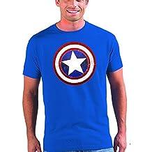 2a2c0e3ac Mx Games Camiseta Capitan America (Escudo) color azul manga corta