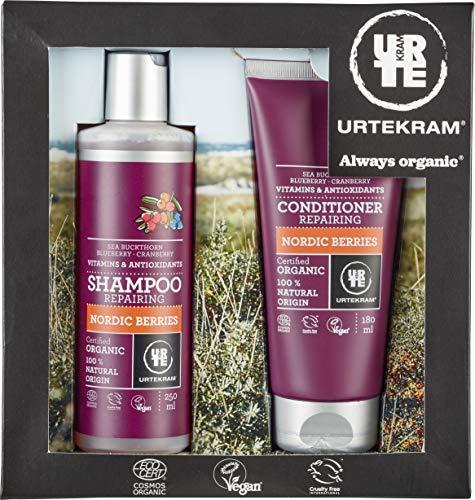 Urte KRAM Gift Box-Nordic Berries Shampoo e Balsamo, Organic, 250ML + 180ML
