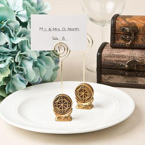 6 Bussola antica Design Nome / Nota titolari Segnaposto per Matrimoni favori Regali - Gold (2 pezzi) - Carta Regalo Della Santa Titolare