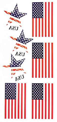 Staaten von Amerika (USA) Flagge gefälschte temporäre Tätowierungaufkleber (Usa Temporäre Tattoos)