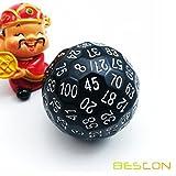 Bescon - Dado poliédrico de 100 lados, troquel D100, dado de 100caras,...