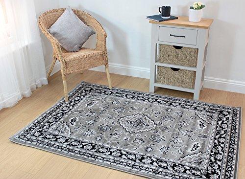 Orientalischer Teppich von Sherborne, traditionelles Design, Grau-Silberfarben, in verschiedenen Größen erhältlich, Polypropylen, silber, 240 x 330 cm (8'x10'10'')