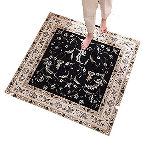WSLTH [Door Mat] European Carpet Door Mat Square Door Mat Porch Mat Foyer Living Room Coffee Table Carpet Mat (140*140CM)