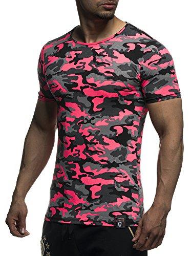 David&Gerenzo Herren T-Shirt Camoflage Shirt 1-10435 Pink