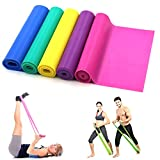 1.5meters Latex Fitness Resistance Bands Elastic Stretch Bands Exercise Training Band Best for Pilates Yoga , Home Gym Crossfit WorkOut or Physical Therapy (Blue)