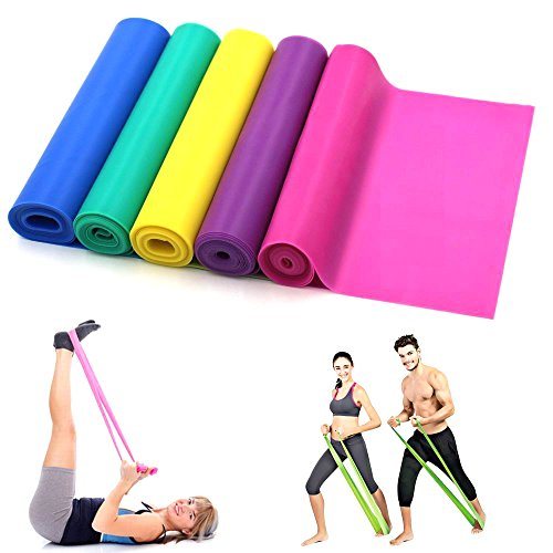 1,5 Meter Latex Fitness Widerstand Bands Elastic Stretch Bands Training Band beste für Pilates Yoga, Home Gym Crossfit Workout oder Physiotherapie, blau - Stretch-band Workout