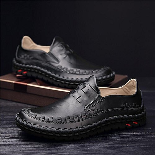 Hommes Casual Hommes chaussures décontractées mocassins plats en plein air exercice Sneakers Comfort conduite chaussures ( Color : Shoelace1-42 ) Shoelace-44