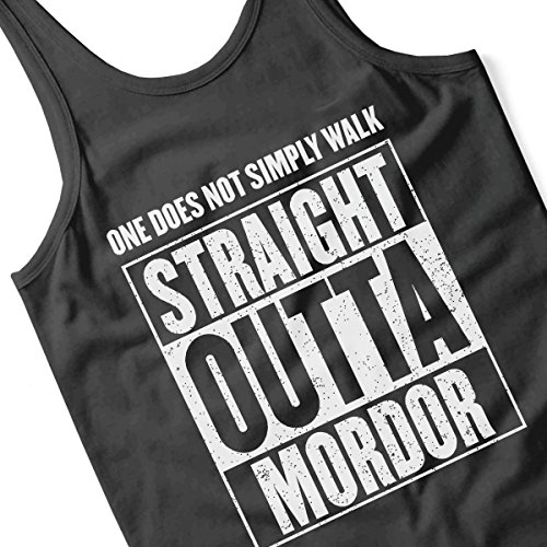 Straight Outta Moria Lord Of The Rings Men's Vest Black