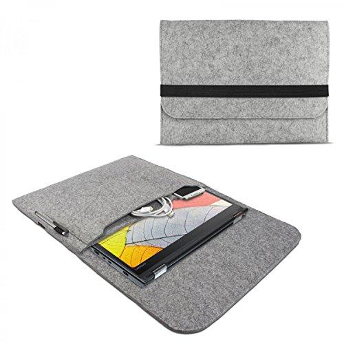 eFabrik Filz Sleeve für Lenovo Thinkpad Yoga 370 Schutzhülle 13,3 Zoll Ultrabook Notebook Tasche Case Soft Cover Schutztasche, Farbe:Grau