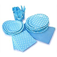 LolliZ Party Pack For 8, Blue & Polka Dots Design by LolliZ
